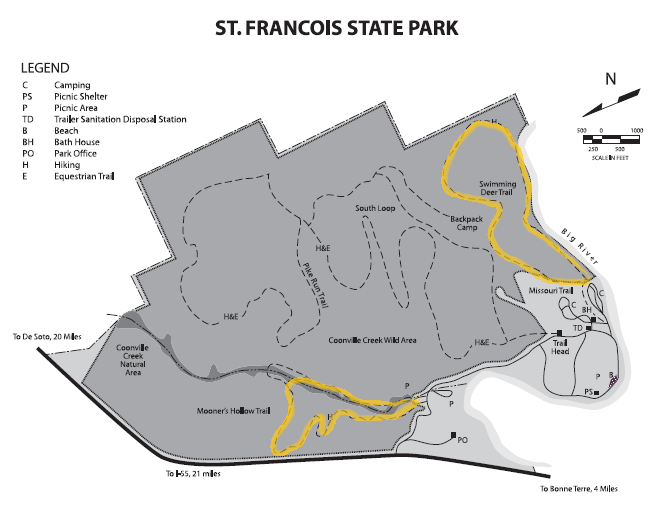 St. Francois State Park Trail Map