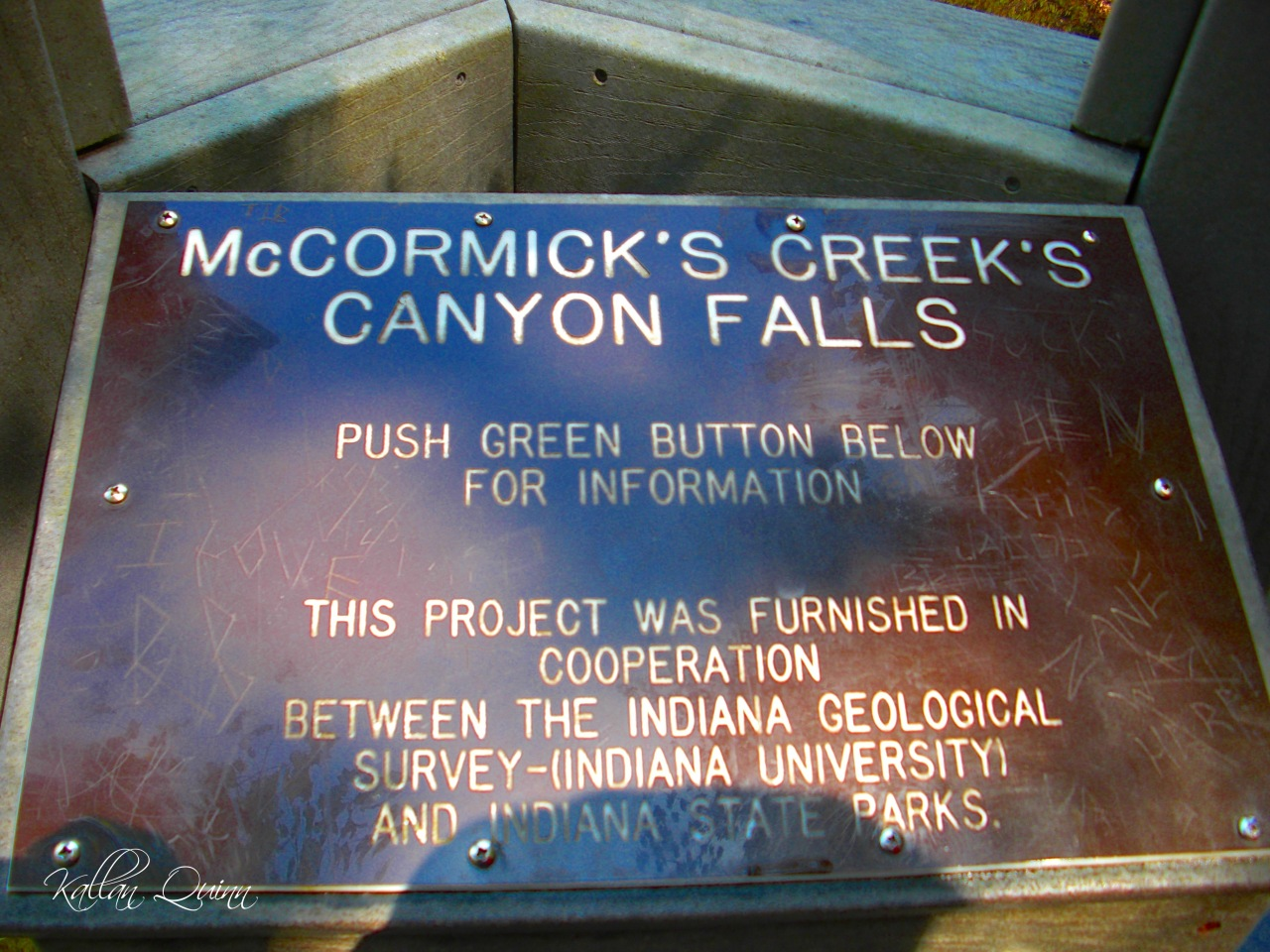 McCormicks Creek Sign