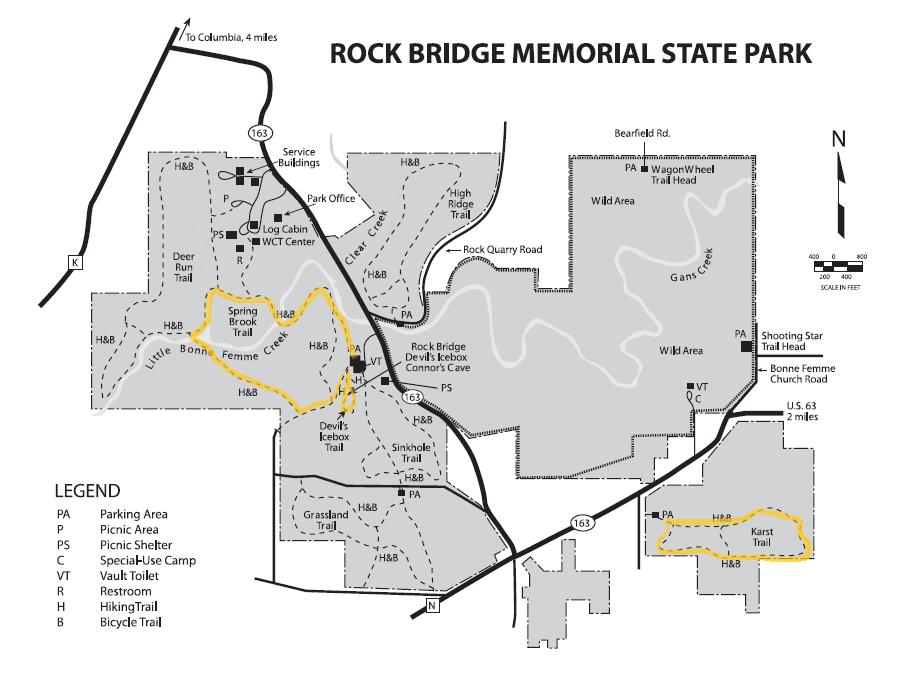 Rock Bridge Memorial State Park Trail Map – Planned Spontaneity