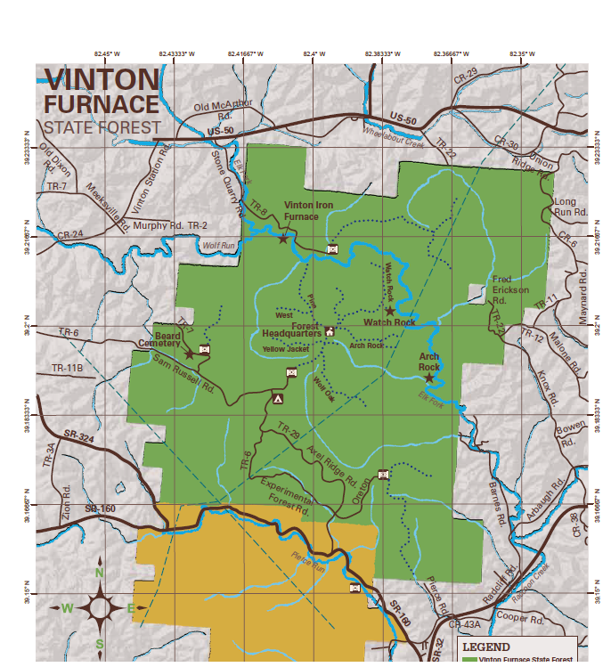 Vinton Furnace Map