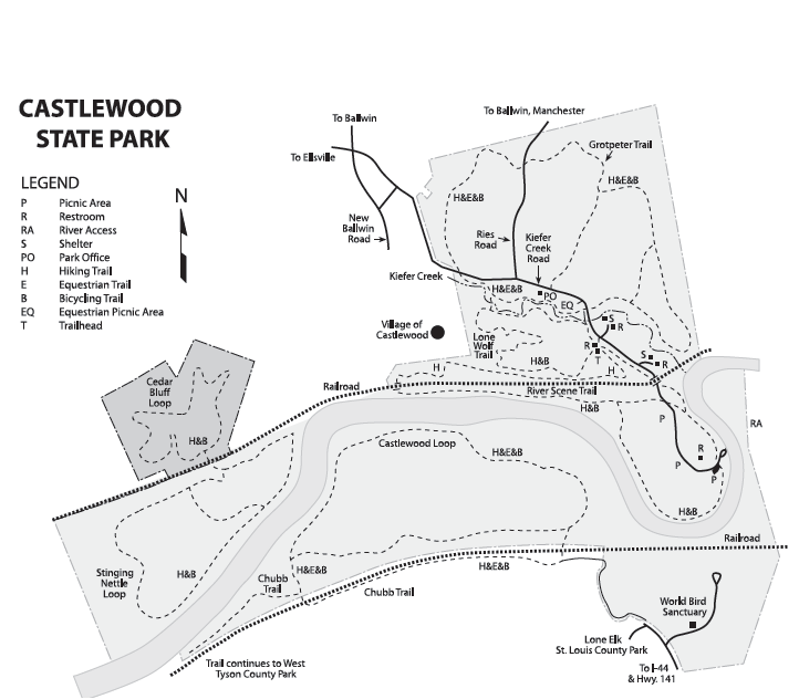 Castlewood SP Map