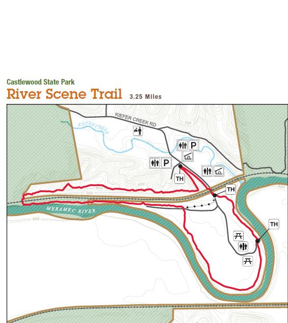 Castlewood State Park map
