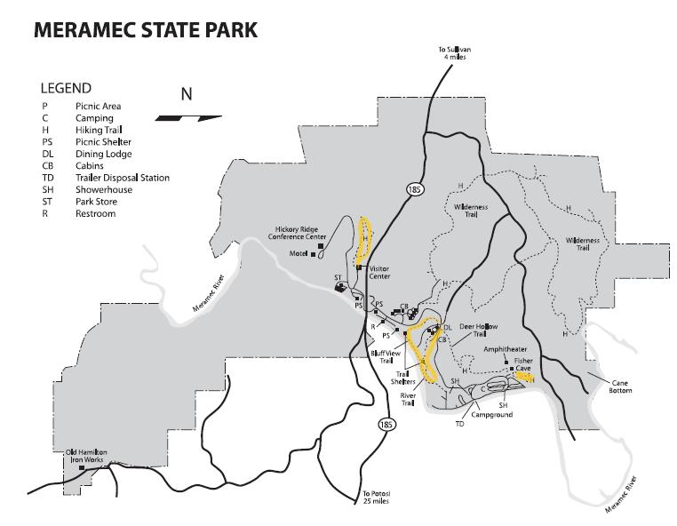 Meramec State Park Map