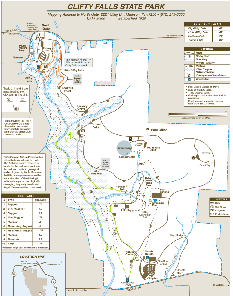 Natural Falls State Park Trail Map