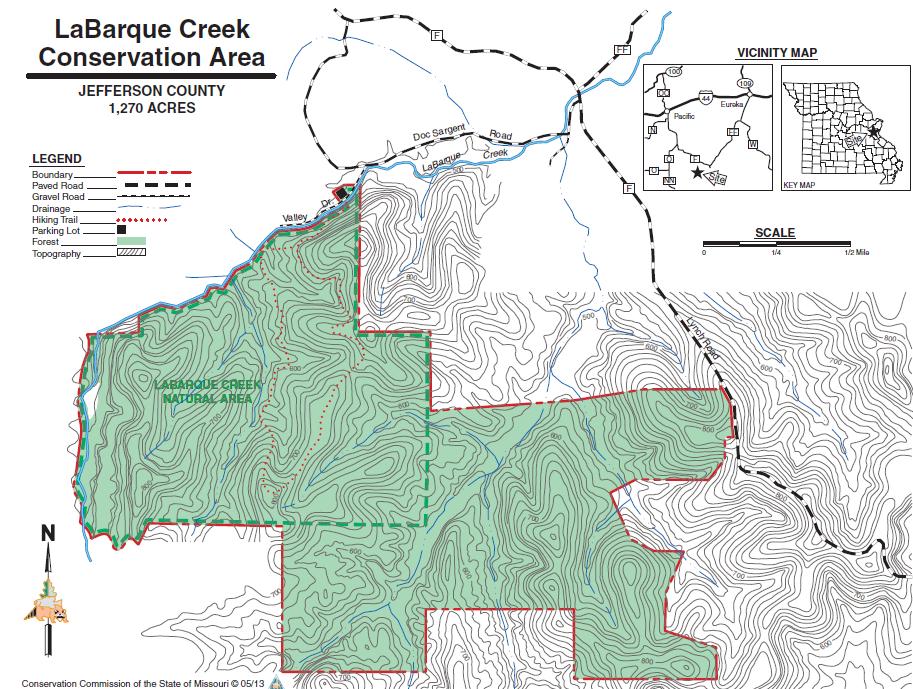 LaBarque Creek Trail Map