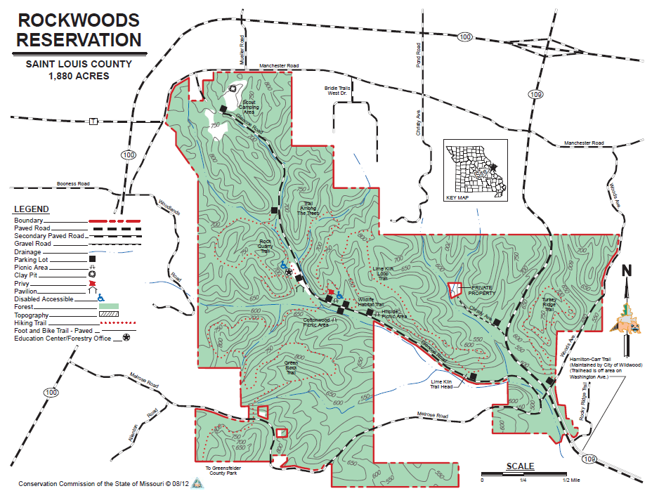 Rockwoods Reservations Map