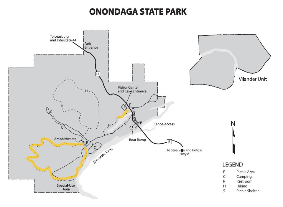 Onondaga Cave Park Map