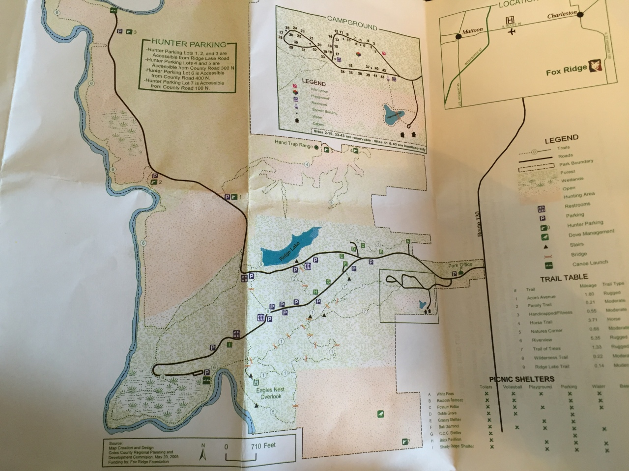Fox Ridge State Park Map (2)