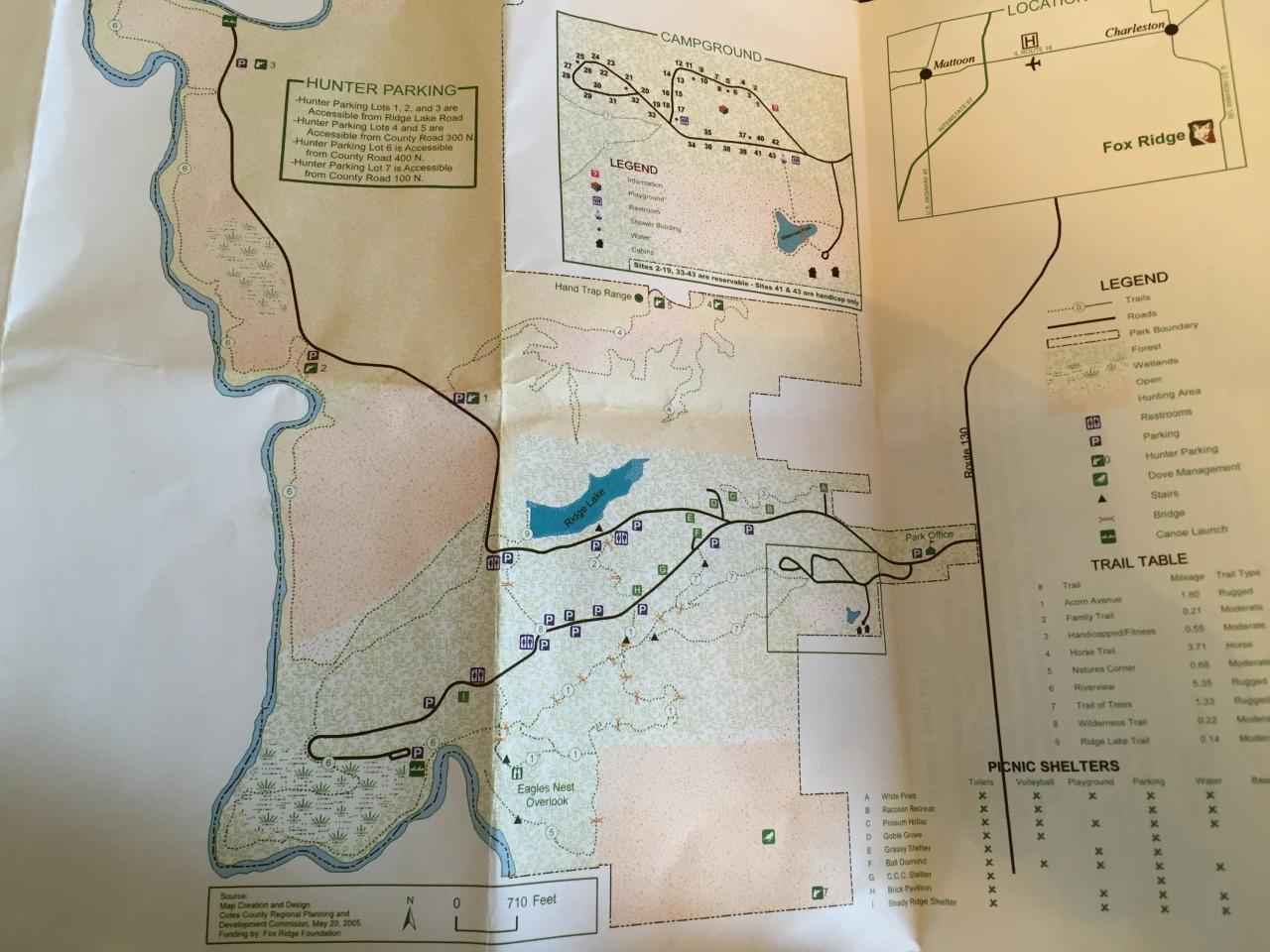 Fox Ridge State Park Map (2)