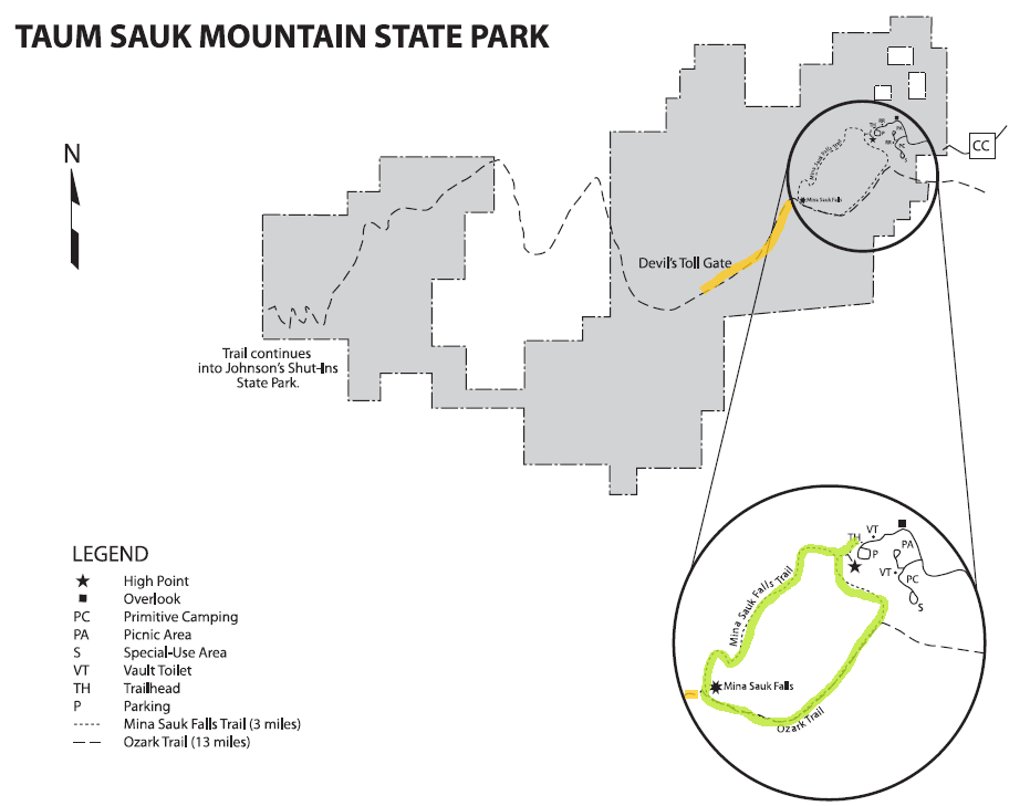 Taum Sauk Map